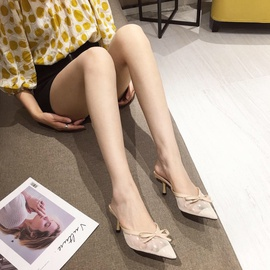 Spring And Summer Fashion Bow Lace Sandals   NSHU29769