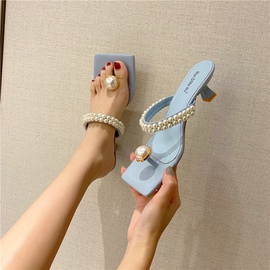 Spring And Summer Fashion Flip Flops Thin Heel Sandals  NSHU29775