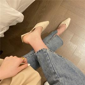 Half-drag Pointed Sandals  NSHU29783