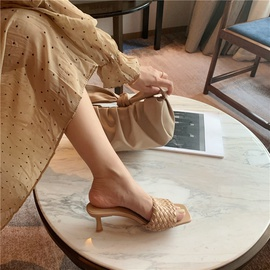Spring And Summer Woven High-heeled Sandals  NSHU29785