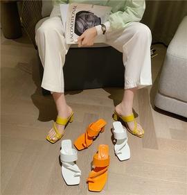 Summer Fashion Woven High-heeled Retro Sandals NSHU29786