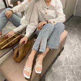 Fashion Thick-heeled Cross-strap Sandals NSHU29789