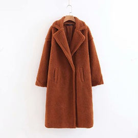 Lamb Wool Mid-length Coat   NSAM29909