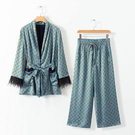 Autumn Feather Drape Casual Suit Jacket NSAM29926