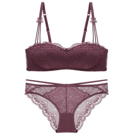 No Steel Lace One-piece Underwear Bra Set   NSCL30144