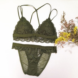Sexy Lace Steel Ring Bra Set NSCL30145