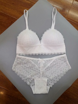 New Sexy Contrast Color Lace Side Bra Set   NSCL30161