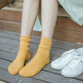 Retro Color Basic Pile Socks   NSFN30172
