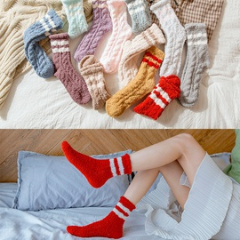 Autumn And Winter Thickening Plus Velvet Sleep Socks NSFN30184