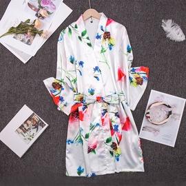 Thin Print Ice Silk Comfortable Pajamas  NSJO30243