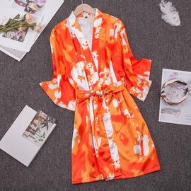 Ice Silk Thin Tie-dye Flame Printing Pajamas NSJO30244