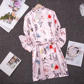 Ice Silk Thin Sexy Printed Pajamas  NSJO30245