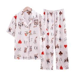 Ice Silk Thin Silk Short-sleeved Trousers Pajamas  NSJO30246