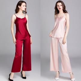 Sexy Thin Silk Suspenders Pajamas Suit  NSJO30248