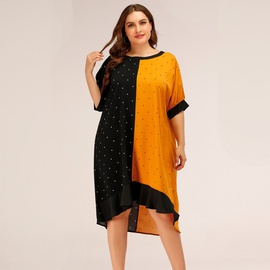 Spring And Summer New Style Loose Fashion Plus Size Dress  NSJR30250