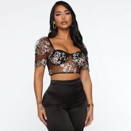 Sexy See-through Net Gauze T-shirt NSMX30391