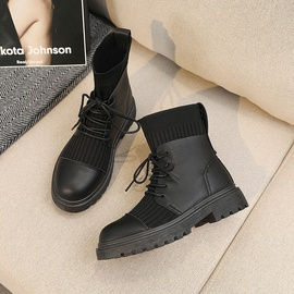 Wild Round Toe Strapped Short Boots  NSNL30453