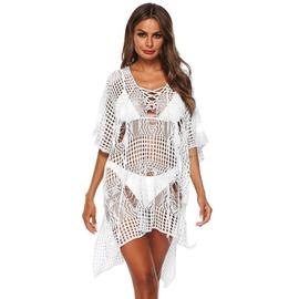 Irregular Hollow Beach Bikini Dress NSOY30464