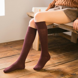 Solid Color Cute Casual Tube Socks  NSFN30488