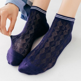 Creative Mesh Fashion Boat Socks  NSFN30490