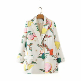 Lapel Double-breasted Printing Small Suit Jacket  NSAM30528