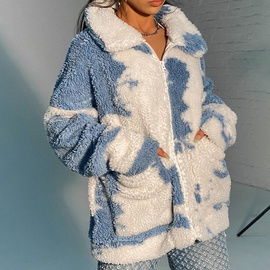 Fashion Padded Lapel Tie-dye Velvet Jacket  NSXE30530