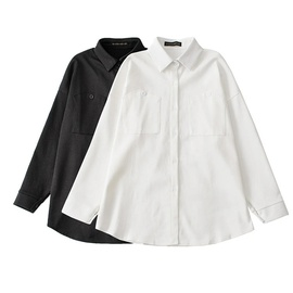 Fashion Simple Solid Color Mid-length Shirt  NSLD30541