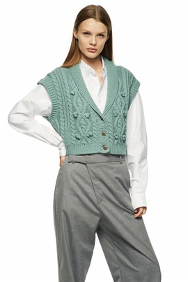 Casual Simple Sleeveless Knitted Vest NSLD30561