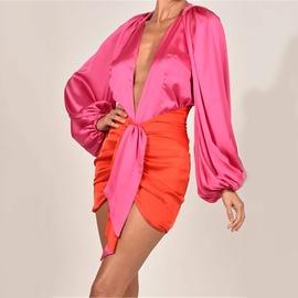 Satin Bodysuit Dress Set NSFD30663