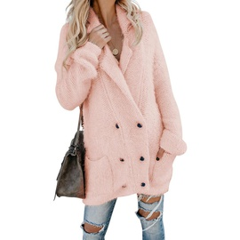 Solid Color Warm Double-breasted Fashion Jacket   NSSI30816