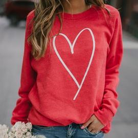 Pattern Print Round Neck Sweatshirt  NSSI30835