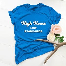 Letter Print Short Sleeve Comfortable T-shirt NSSN30867