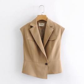 Fashion Simple Sleeveless Suit Collar Vest  NSAM30928