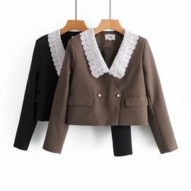 New Retro Lace Collar Short Suit Jacket NSAM30931