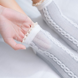 Frilled Edge Cotton Socks NSFN30974