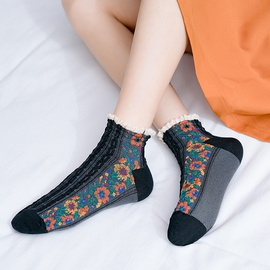 Trendy Floral Socks NSFN30978