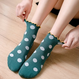 Lettuce-edge Cotton Socks NSFN30985