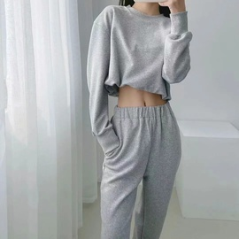 Elastic Waist Sweater Loose Pants Set NSHS30990