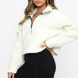 Thick Warm Zipper Lamb Wool Sweatshirt NSFD31191