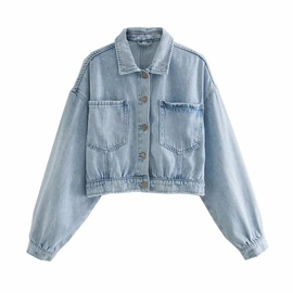 Fashion Cropped Denim Jacket  NSLD31337