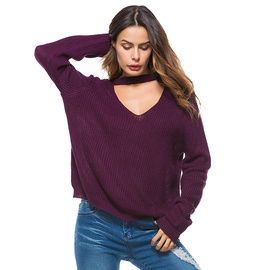 Sexy Deep V Knitted Bottoming Shirt NSYH31405