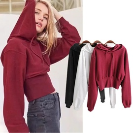 Warm Hooded Short Waist Bottoming Shirt Jacket NSHS31439