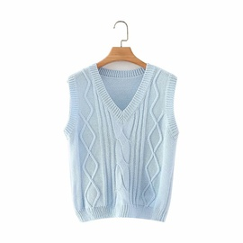 Twisted Knitted Sleeveless Vest  NSHS31463