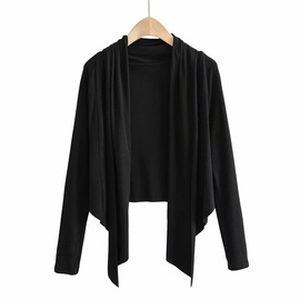 Loose Threaded Irregular Hem Cardigan  NSHS31488