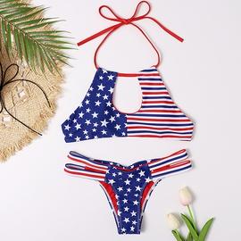 New Style Stars Stripes Sexy Triangle Bikini Swimsuit  NSHL31531