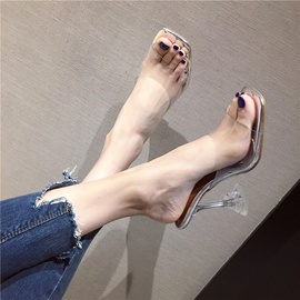 New Stiletto Sexy Crystal Slippers  NSHU31576