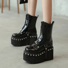 Thick-soled Black Boots NSCA31794