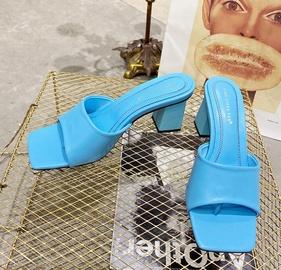Retro Square Toe Open-toed Stiletto Slippers  NSCA31796