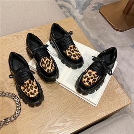 Retro Carved Leather Lace-up Thick-soled Loafers  NSCA31803