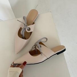 Fashion Bows Strapped Flat Half-slippers NSHU31908
